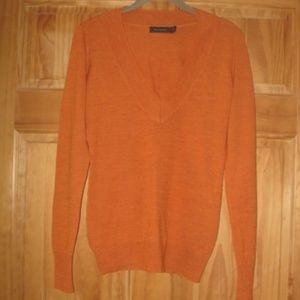 Womens The Limited Orange V-Neck Sweater